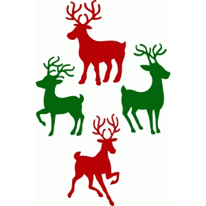 christmas reindeer set