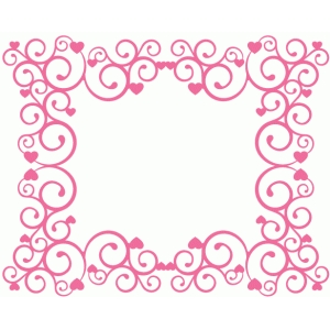 valentine fancy flourish frame