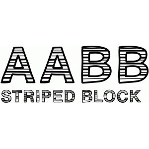 striped block font