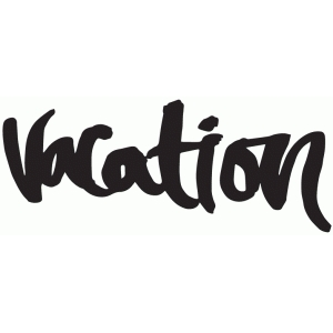 vacation brushed lettering