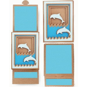 dolphin shadow box sliding card