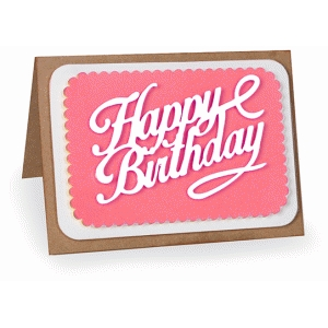 a2 happy birthday layered card