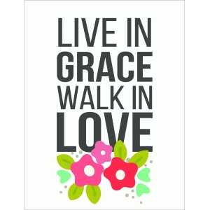 live in grace 3x4 quote card
