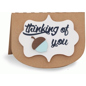 thinking of you acorn folded card