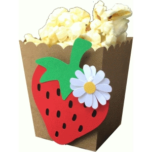 strawberry popcorn box