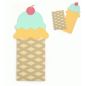 scooped ice cream cone gift card envelope