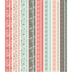 christmas berries washi strip planner stickers