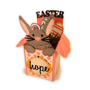 bunny easter box card