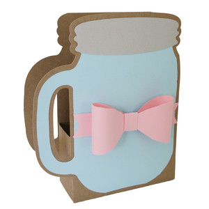 mason jar and bow box