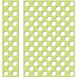 polka dots background and border - large