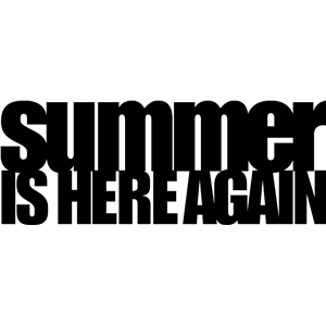 summer is here again phrase
