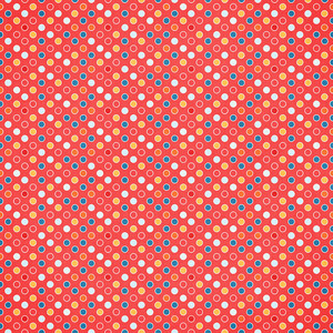 red with multi color circles paper