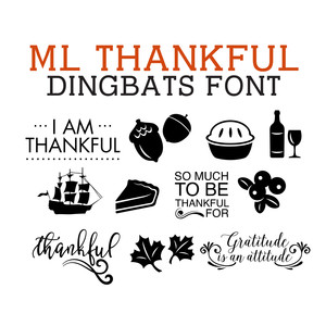 ml thankful dingbats font