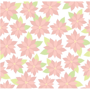 pink poinsettia pattern