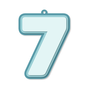 layered number tag - 7