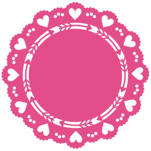 heart and arrow lace doily