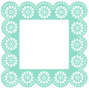 flower dots frame