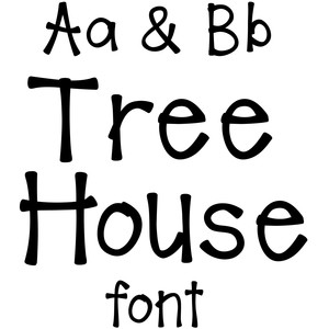 tree house font