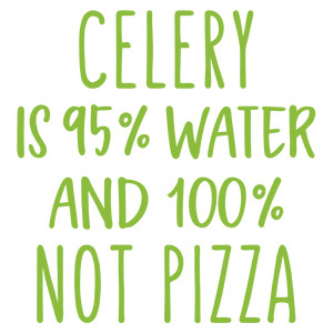 celery is 95% water phrase