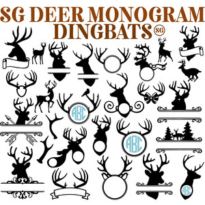 sg deer monogram dingbats