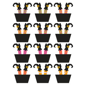oops a daisy witches cupcake toppers