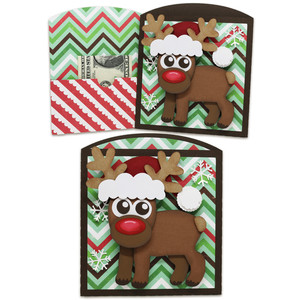 santa deer money/gift card envelope