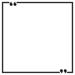 square quote frame