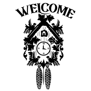welcome cuckoo clock home decor