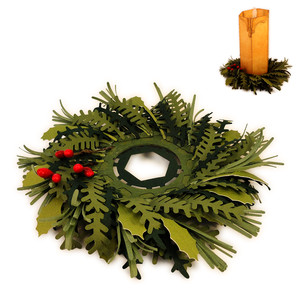 candle ring 3d evergreens
