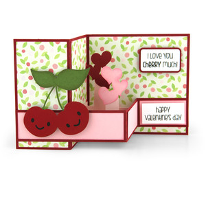 pop up box card valentine cherries