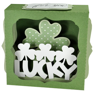 shamrock and clover gift card box