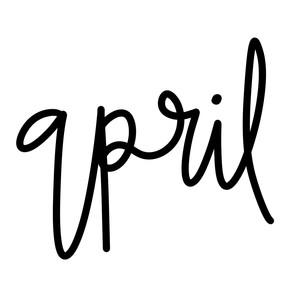 april word art