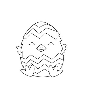 sketch easter chick