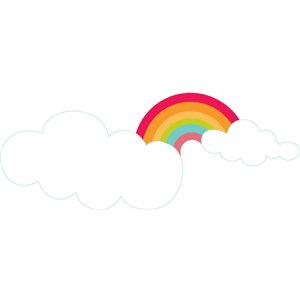 rainbow & clouds