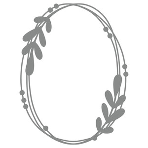 leaves vine oval frame