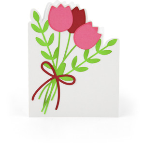 a2 tulip shaped card
