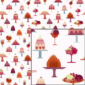 ice cream and desserts sweets pattern