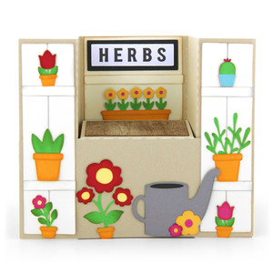 center box card potting workbench