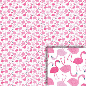 pink flamingos background paper