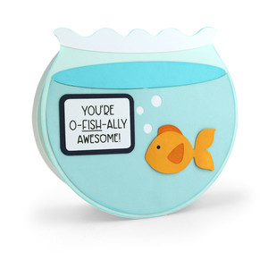 pop up card fish