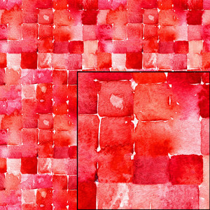 red watercolor geometric seamless pattern