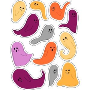 ml halloween ghosts boo stickers