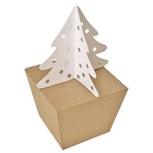 snowflake christmas tree box