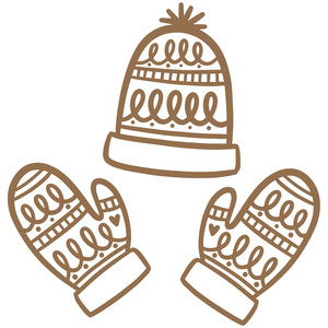 hat and mitts set