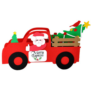 3d merry express christmas tree truck