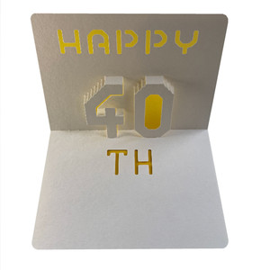 happy 40th popup card
