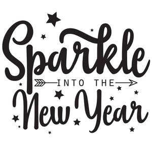 sparkle into the new year arrow quote