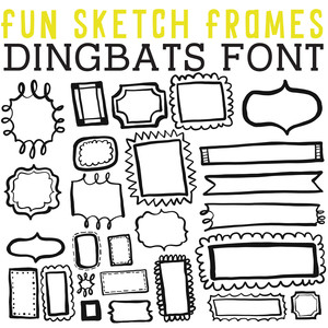 cg fun sketch frames dingbats