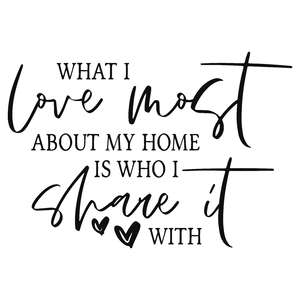 what i love most about my home