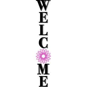 welcome flower porch sign
